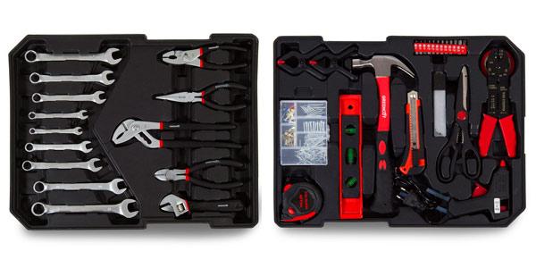 Maleta de 416 herramientas para bricolaje Greencut con ruedas