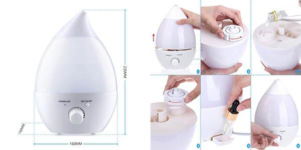 Chollo humidificador ultras nico ionizador y difusor - Humidificador que es ...