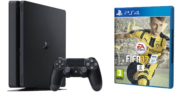 chollazo consola ps4 slim 1 tb fifa 17 por s lo 293 95. Black Bedroom Furniture Sets. Home Design Ideas