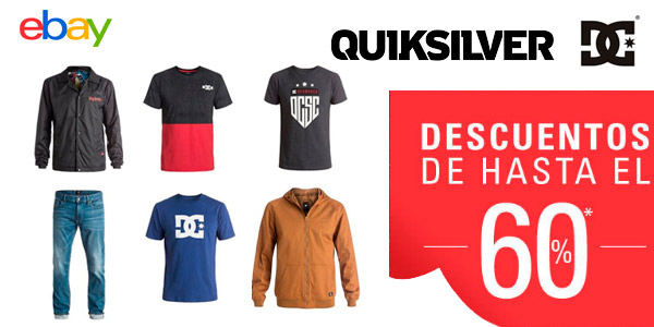 ropa quiksilver dcshoes descuentos ebay