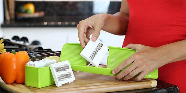 Mandolina barata con 5 cuchillas de twinzee en amazon espa a for Mandolina cocina precio