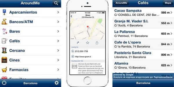 Around Me App lugares de interés para visitar en tus viajes