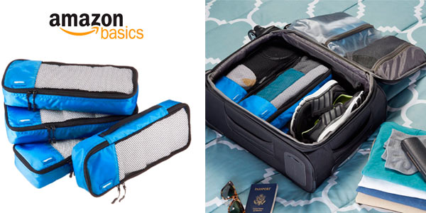 7741841b4 Juego de 4 bolsas organizadoras para equipaje de Amazon en varios tamaños y  colores