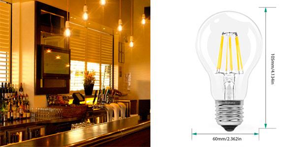 Bombillas LED baratas de luz calida E27