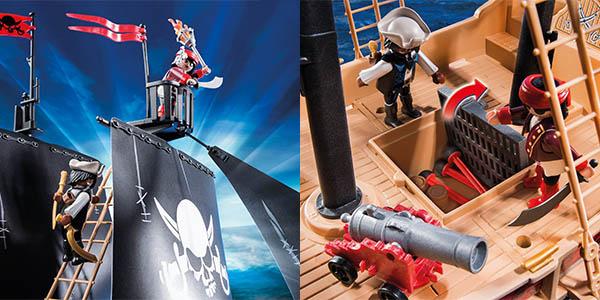 Barco pirata Playmobil con accesorios