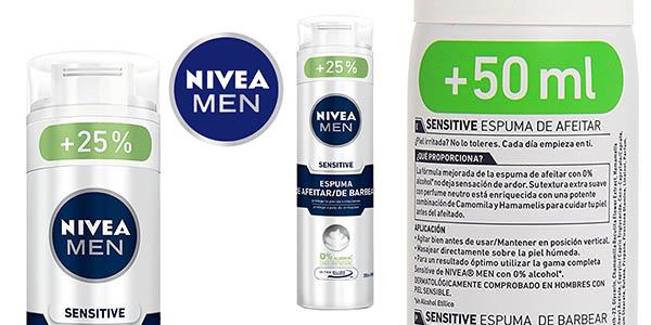 ddc9ce03c90 Chollazo espuma de afeitar Nivea Men Sensitive 250 ml por sólo 1