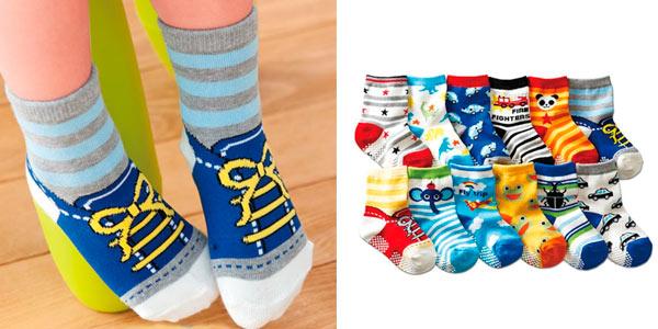 Pack de 12 calcetines para bebé en oferta