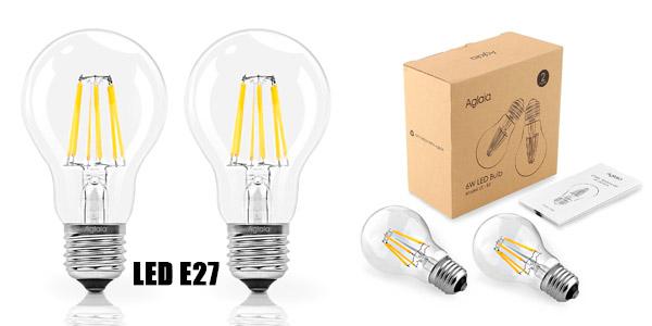 Pack de dos bombillas LED E27 6W de oferta
