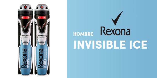 Pack de dos desodorantes Rexona Invisible Ice para hombre