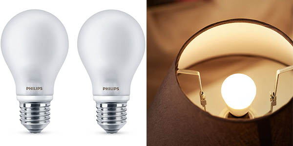 Bombillas LED Philips 7W cálidas baratas