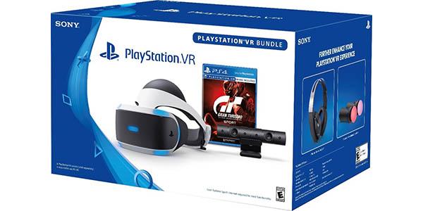 Pack PlayStation VR + Cámara PlayStation 2.0 + Gran Turismo Sport barato