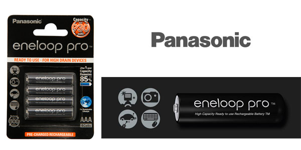 Chollo pack pilas recargables panasonic eneloop pro aaa for Oferta pilas recargables
