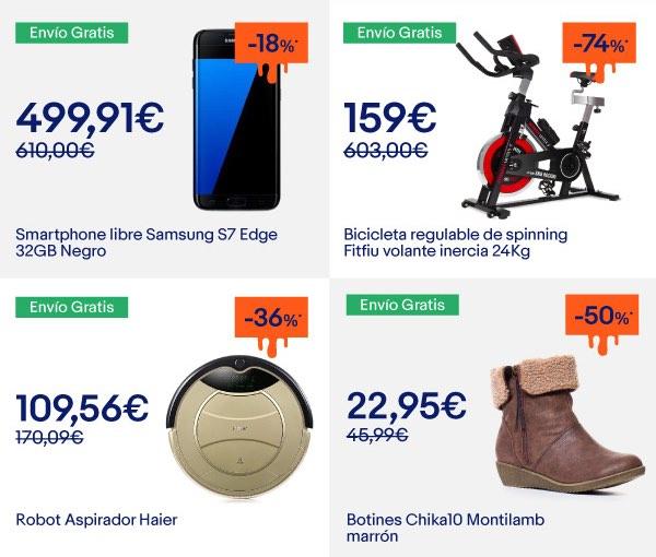 ofertas eBay electrónica hogar deportes moda