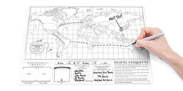 regalo viajeros Mapa Luckies para rascar países chollo