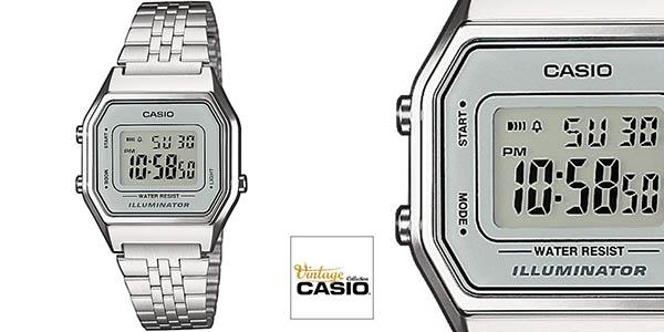 f6441d4f6ec9 Chollo reloj para mujer Casio LA680WEA-7EF de acero inoxidable por ...