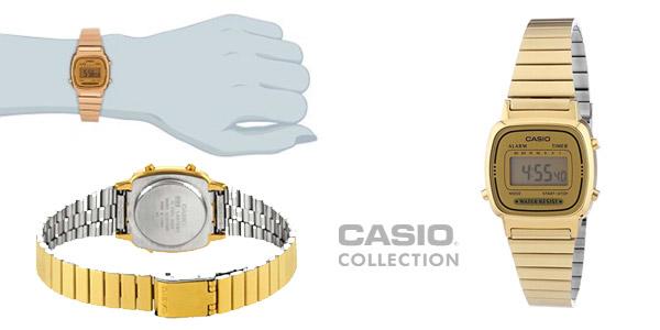 e32a700d9737 Chollo dorado  Reloj Casio classic retro LA670WEGA-9EF en color oro ...