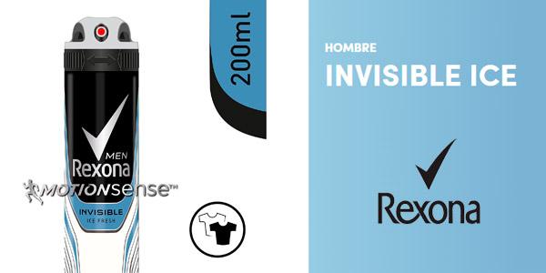 Oferta desodorante Rexona Invisible Ice para hombre