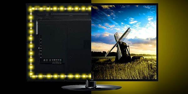 Tira LED multicolor para TV barata