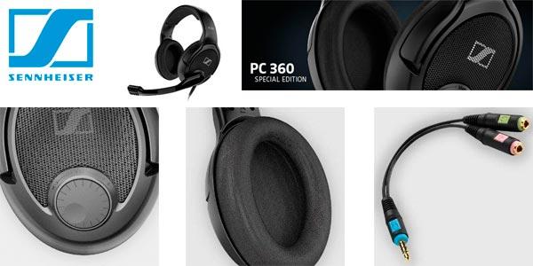 Auriculares Sennheiser cómodos para jugar con micrófono a buen precio en Amazon
