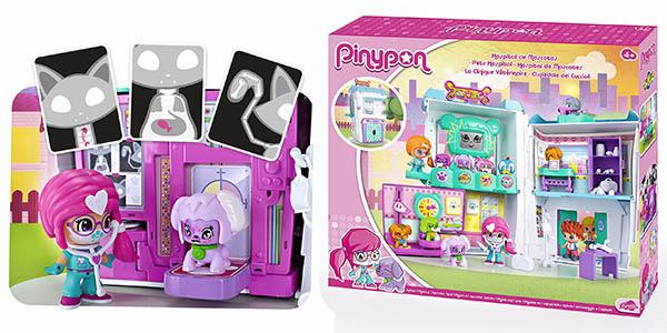 caja pinypon muñeca mascotas