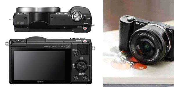 Cámara EVIL Sony Alpha 5000 blanca o negra al mejor precio en El Corte Inglés