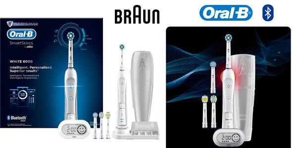 Cepillo eléctrico recargable Bluetooth Oral-B White 6000 CrossAction en las rebajas de Black Friday de Amazon