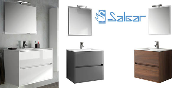Chollo conjunto de ba o salgar noja con mueble lavabo for Conjunto accesorios bano baratos