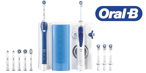 conjunto oral b oxyjet irrigador cepillo electrico pro 3000 barato