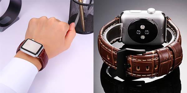 Correa Bandmax Leather Loop marrón