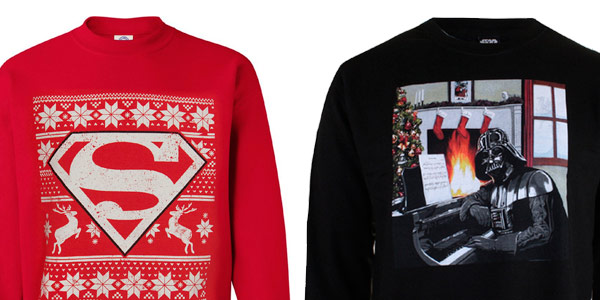 Jerseis navideños para adultos de super héroes baratos