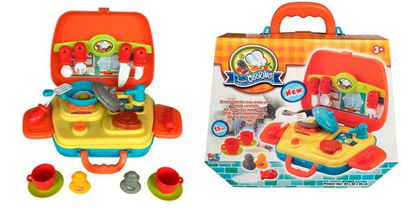 Chollo Juego infantil kit de cocina con 21 piezas en un bonito ...