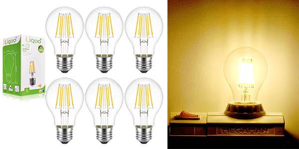 LED energética 6 Liqoo A de bombillas de filamento clase DWIH29eEY
