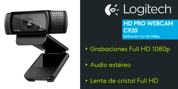Logitech HD Pro Webcam Full Hd C920 reabajada por el Black Friday de Amazon
