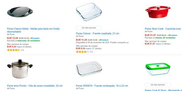 Menaje de cocina a precios locos en Amazon Luminarc, Pyrex, Amefa, Quid