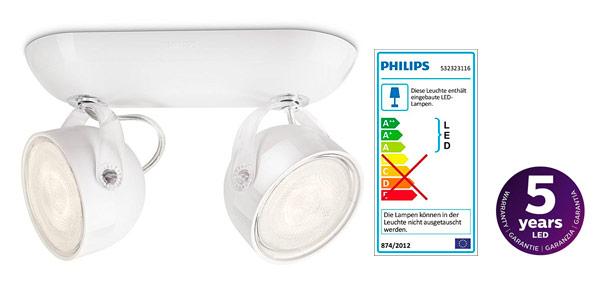 Plafon doble para pared o techo de Philips a buen precio en Amazon