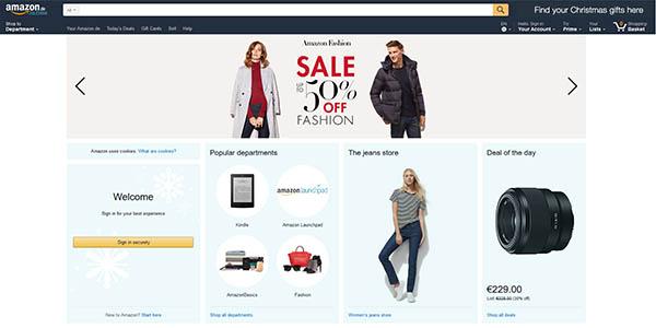 Amazon Alemania traducida al inglés