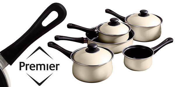 Chollazo bater a de cocina premier housewares de 5 piezas for Amazon bateria cocina