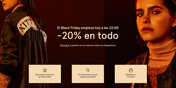 pull & bear black friday mujer