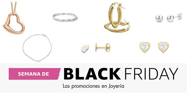 seleccion joyeria oro plata rebajada amazon black friday 2016