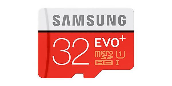 Tarjeta microSD Samsung EVO Plus de 32 GB