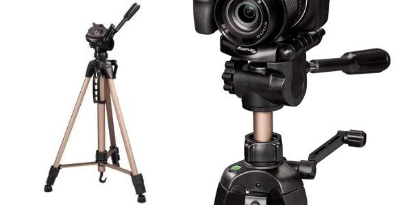 Trípode resistente de buena calidad-precio Hama para cámaras compactas y reflex