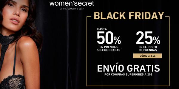Black Friday en Women´s SEcret y 50% de descuento en prendas seleccionadas