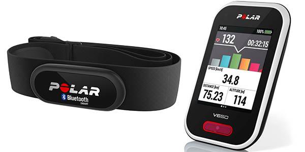 Ciclocomputador Polar V650 HR y monitor frecuencia cardíaca H6