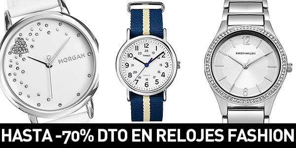 c9a342522feb SÓLO HOY  Hasta -70% de descuento en una selección de Relojes Fashion