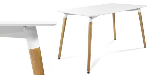 mesa diseño contemporaneo patas madera barata