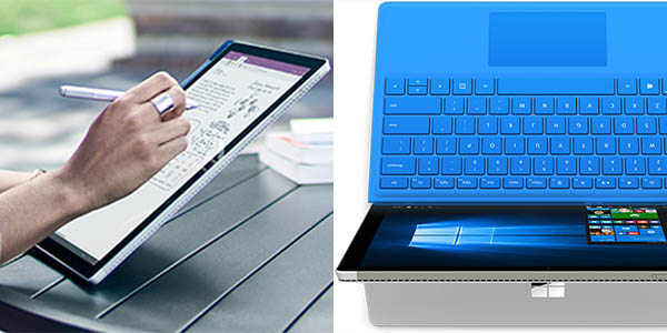 Microsoft Surface Pro 4 con teclado