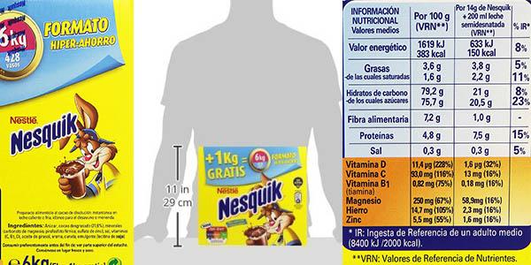 nesquik caja 5+1 kg gratis