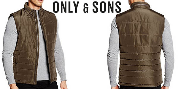 only & Sons chaleco plumon hombre barato