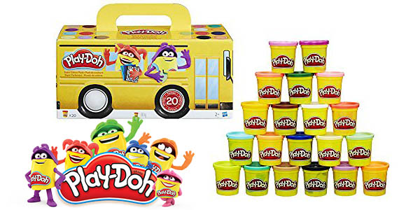 play-doh super color 20 botes plastilina baratos