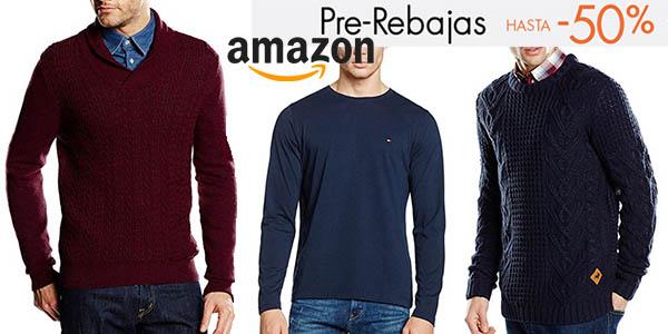 e871c336e50 ... encontrar modelos de primeras marcas a precios dignos de outlet. pre- rebajas jerseys punto hombre amazon diciembre 2016